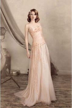 Empire Kolumne Schönste Romantische Brautkleider aus Organza