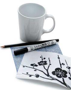 Pintura em Louça com caneta Creative Marker Compactor