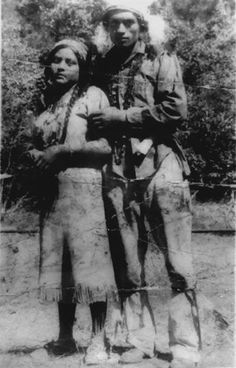 Francis and Clyde Sam around 1924, two Paiute Indians from Nevada and Yosemite Valley