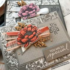 Craft Cards, Stamping Up, Flower Cards, Paper Size, Card Ideas, Catalog, Projects To Try, Paper Crafts, Gift Wrapping