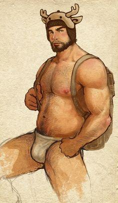 gay Bear toon naked