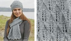 This beautiful Lake District knitted lace scarf and and matching hat will be a great addition to your collection of accessories.