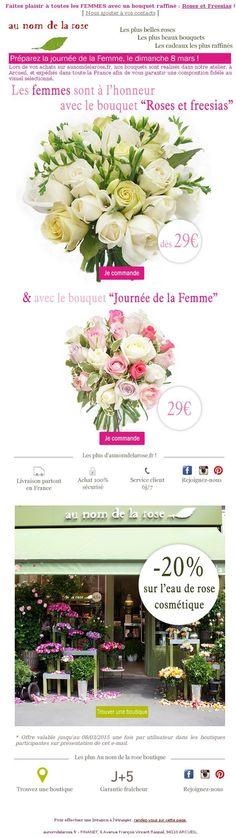 Au nom de la rose - Journée de la Femme dimanche : Offrez leur les plus beaux bouquets !