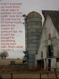 What Country Is - Luke Bryan  Makes me want my mama's homemade peach icecream :)