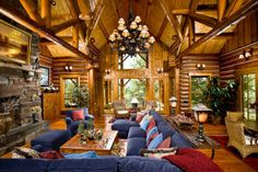 Log Home Interior Design   Traditional Log Home Designs and Furnitures