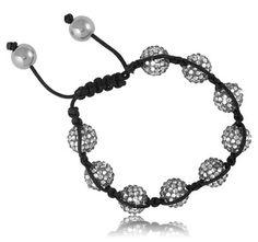 $9.99 - Grey Crystal 10mm Bead Bracelet