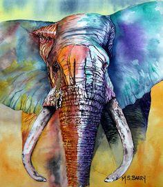 ARTIST:  Maria Bary   Alpha  Painting - Watercolor