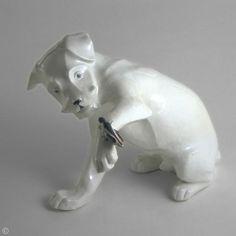 Sandoz « La sauterelle » Porcelaine émaillée 1923