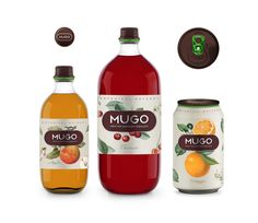 Mugo fruit drinks by Andrey Antoshkin. #SFields99 #packaging #design