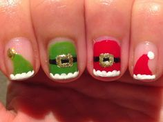 Polish My Pretty Nails: The 12 Days of Christmas Nail Art Challenge: Day Six - Santa's Workshop and his List