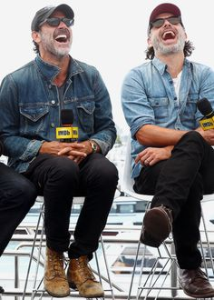 Andrew Lincoln and Jeffery Dean Morgan. (Rick and Negan)