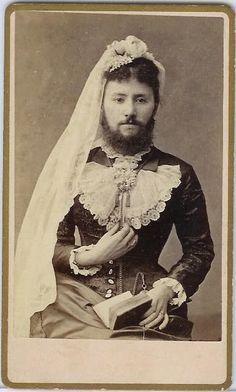 lovely bearded lady or cross dressing Victorian gentleman?