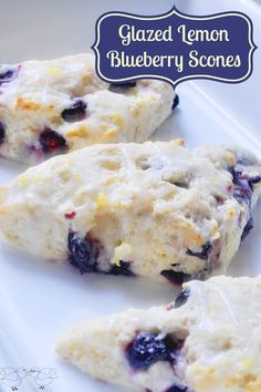 Glazed Lemon Blueberry Scones -