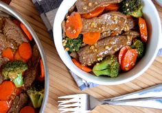 "Simple Beef and Broccoli Stir Fry | Paleo Grubs | ""Substitute coconut vinegar for red wine vinegar."" -MB."