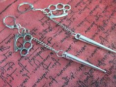 Knuckle Earrings Spike Earrings Knuckle and Spike by SpoiledRockN, $10.00