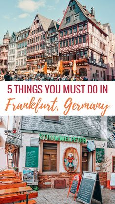 5 Things you Must do in Frankfurt Germany Surprisingly there are a lot of fun things to do in the financial capital of Europe. Here's a list of the top 5 things you MUST do in Frankfurt when you go! Voyage Europe, Europe Travel Guide, Europe Destinations, Koblenz Germany, Frankfurt Germany, Weisbaden Germany, Dusseldorf Germany, Bonn Germany, Cologne Germany