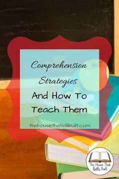 Follow along as we learn excellent strategies for teaching comprehension!