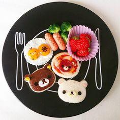 Rilakkumar, Korilakkuma & Kiiroitori breakfast by AYAKO. (@ayako.m.y)