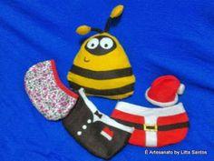 Almofadinha Pou que troca de roupa kit completo by Litta Santos (aceito encomendas: e_artesanato@hotmail.com)