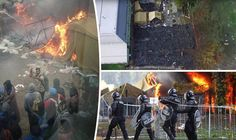 http://www.express.co.uk/news/world/613809/European-migrant-crisis-refugees-set-fire-tents-Slovenia-selfies-travel-UK-GermanyUK Migrants TORCH tents and take SELFIES of carnage in protest at ONE DAY transfer wait..Wake Up! America!