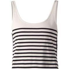 Rag & Bone 'Avila' cropped knit top ($230) ❤ liked on Polyvore featuring tops, white, white knit top, rag & bone, white top, crop top and rag & bone tops
