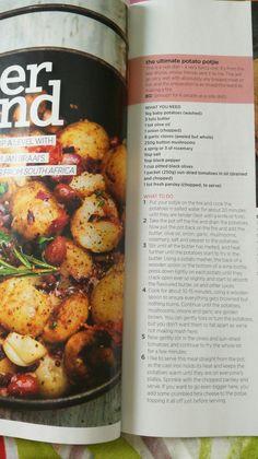 Potato potjie - side dish Baby Potatoes, Pretzel Bites, Kos, Side Dishes, Recipes, Ripped Recipes, Aries, Side Dish