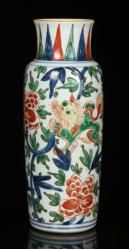 17TH/18TH C. CHINESE FAMILLE VERTE VASE Asian Art & Antiques Auction | Official Kaminski Auctions