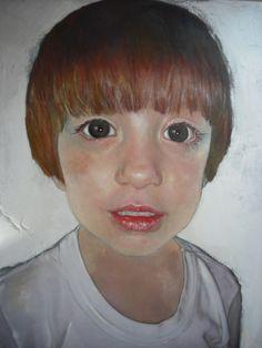 """""""Martín"""" por Inma Pascual Aparici técnica mixta.lienzo sobre tabla 2013 1,69 x 1,20 cm  VENDIDO por 2000 euros"""