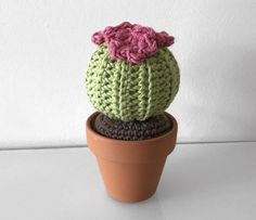 In this 4 part mini series I will be giving you 4 detailed posts on how to make your own variations of Cacti. This pattern is for the round barrel cactus. These cacti patterns are also incredibly a… Crochet Cactus Free Pattern, Crochet Flower Patterns, Round Cactus, Cactus Flower, Tall Cactus, Crochet Gifts, Cute Crochet, Barrel Cactus, Knitted Flowers