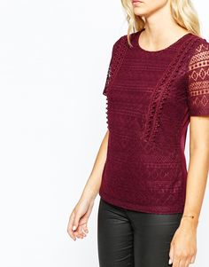 Oasis All Over Lace Detail T- Shirt