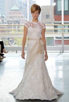 Victorian style lace  wedding dress