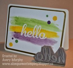 Along Came Stamping: FM153 Watercoloring with Hello Undefined #StampinUp #Undefined