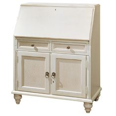 Jasper Cabinet Bahama Breeze Computer Secretary Desk Finish: Country White