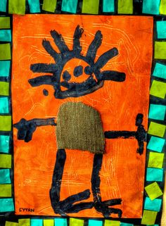 African Art by 3 year old kids