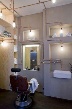 «Barber» shaving salon, in Amsterdam, the Netherlands - by Ard Hoksbergen Architect