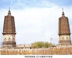 Twin Pagodas in Chongxingshi, Liaoning, China    遼寧 崇興寺