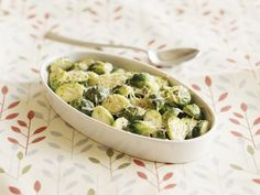 As I promise you here is another side dish ides for Thanksgiving and not only. The Pancetta Brussels sprouts will work wonderful for any family dinn Side Dish Recipes, Veggie Recipes, Cooking Recipes, Microwave Recipes, Thanksgiving Side Dishes, Thanksgiving Recipes, Think Food, Delicious Magazine, Food To Make