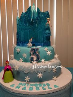Frozen Cake by Anabellas Sweet Creations, and Gorgeous Sparkly Candle by JDotLove Creations