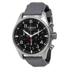 Alpina Startimer Pilot Black Dial Grey Fabric Strap Mens Watch AL372B4S6  $1,373.28  Alpina Startimer Pilot Black Dial Grey Fabric Strap Mens Watch AL372B4S6