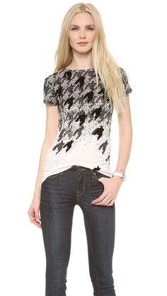 Marc by Marc Jacobs Flocked Houndstooth Tee
