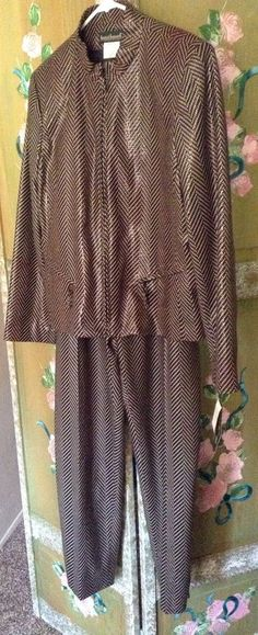 Harvé Bernard By Bernard Holtzman Women's Suit- Snakeskin, 90's Fashion,2-Pc NWT #HARVBernard