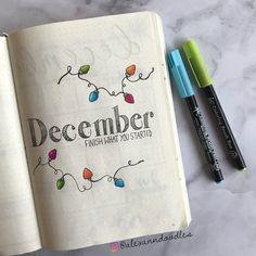 Instagram @alexanndoodles #bulletjournal #decemberspread