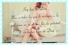 soy hija de Dios