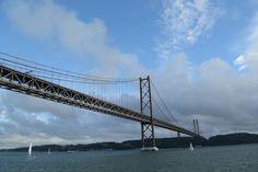 The 25 de Abril Bridge Lisbon Portugal
