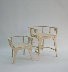 Chair design 2011 - Anse & Anse JR- cnc wood