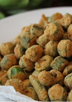 The Best Fried Okra (easy too) - Southern Bite Earlier in the week we got to talking about my little boy and his Okra Recipes, Vegetable Recipes, Cooking Recipes, Cooking Tips, Easy Cooking, Veggie Dishes, Food Dishes, Side Dishes, Veggie Food