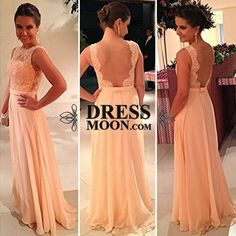 I like this - A Line Scoop Chiffon and Lace Backless Evening Dress Prom Dress Bridmaid Dress. Do you think I should buy it?