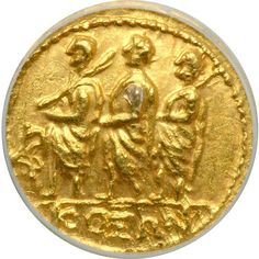 Thracian Kingdom. Koson, died c. 29 BC. Gold Stater (not weighed by grading company) minted c. 44-30 BC Consul between lictors, all togate, advancing left. Eagle standing left, holding wreath in one claw. SNG Cop 123; Dewing 1245. . Estimated Value $500 - 600. #Coins #Gold #Ancient #MADonC