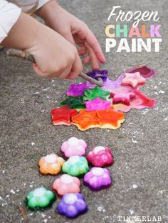 How to make frozen chalk paint with corn starch.