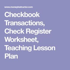 Checking Unit With Lesson Plans  CheckingunitlessonplansPdf